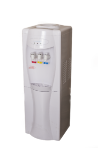 Stand alone water dispenser white