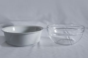 Bowl for sidedish (porcelain, glass)