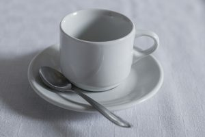 Coffee spoon and cup